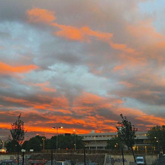 Sun setting over Charles Street Sunset Igersmcr