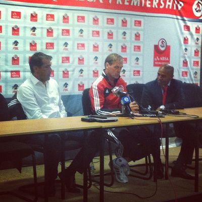 @ajaxcapetown @orlando_pirates coaches giving there account of the Instasport Football Media Capetown psl absapremiership soccer football picoftheday