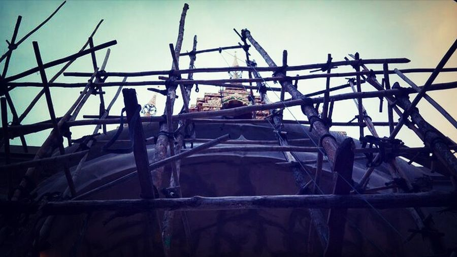 Discover Your City my home town temple gate under construction
