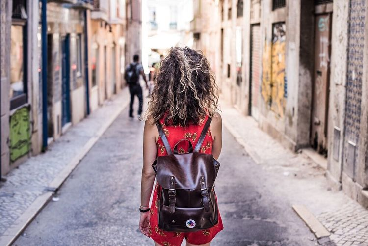 Your Ticket To Europe Lisbon 2017 Real People Travel Streetphotography Girl Walking Around