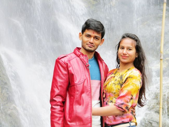 Lovely couple 👫 posing for 📷 against waterfall Winter Wear ImPHOTO Imphotography Imphotographer ImPrashant Fashion Clothing Fashion Stories Two People Togetherness Portrait Looking At Camera Adult Adults Only Couple - Relationship Young Adult Happiness Young Women Beautiful People Outdoors Smiling Standing Men Love Young Couple Love Yourself