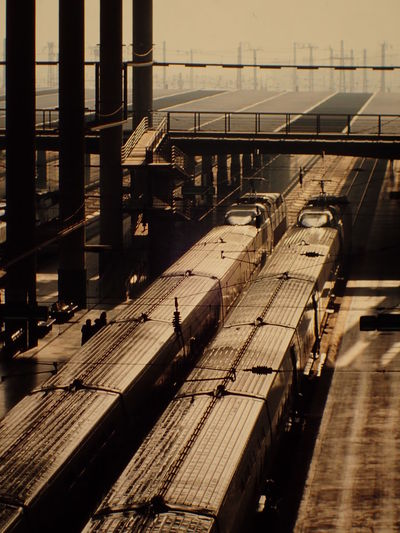 Architecture Built Structure Comuting Madrid Railway Station SPAIN Sunlight Train Transportation