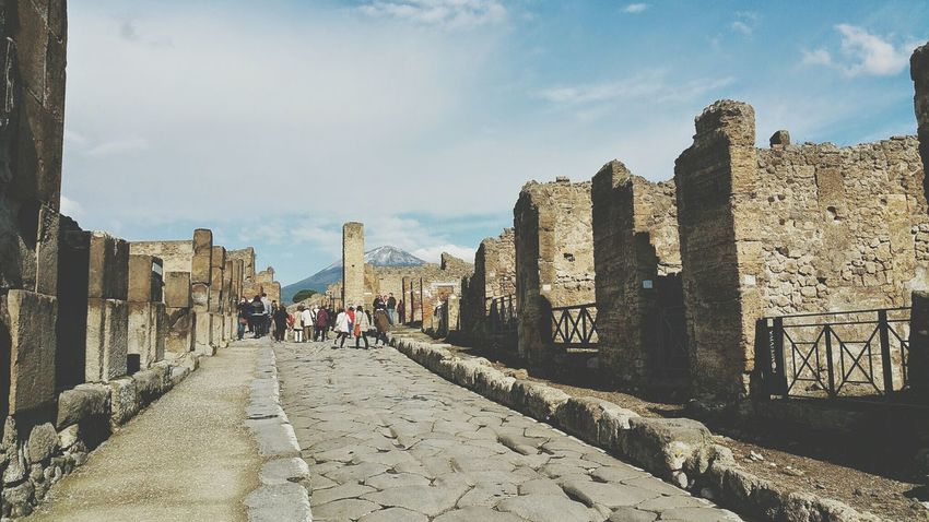Pompeya Streets Pompeii  Italia Roman Ruins