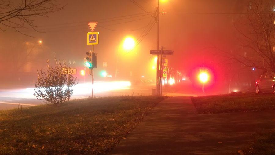выдержка светофор Ночь Москва автомобили Машины пепекрёсток светофор