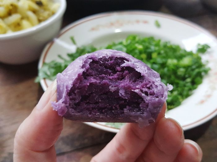 Spring Roll Pastry Dessert Pastry Sweet Potato Sweet Potato Pastry Purple Food Sweetmeat Purple Potatoes