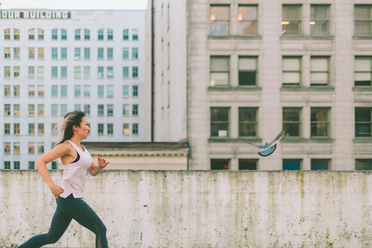 Beautiful City Exercise Exercising Running Woman Working Out Active Activity Health Healthy Lifestyle Urban