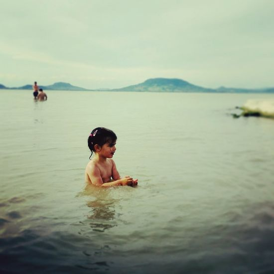 Szofi in Lake Balaton... with Badacsony view First Eyeem Photo