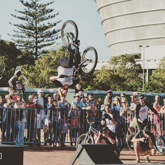 Danny MacAskill doing his tricks at the Cycle in the city in Cape Town this weekend Bicycle Cape Town Cycleinthecity Cycling Danny Macaskill Fun Lifestyles Riding Trail Bikes Trick Cycling