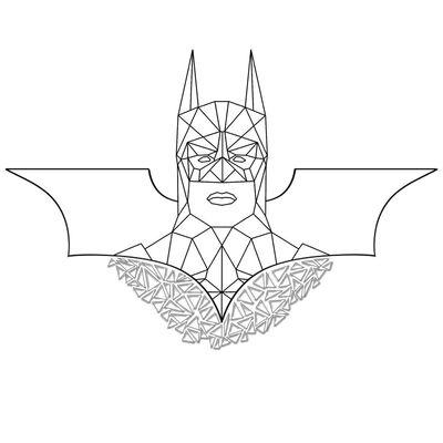 Бэтмен полигон Batman Polygon фотошоп Photoshop