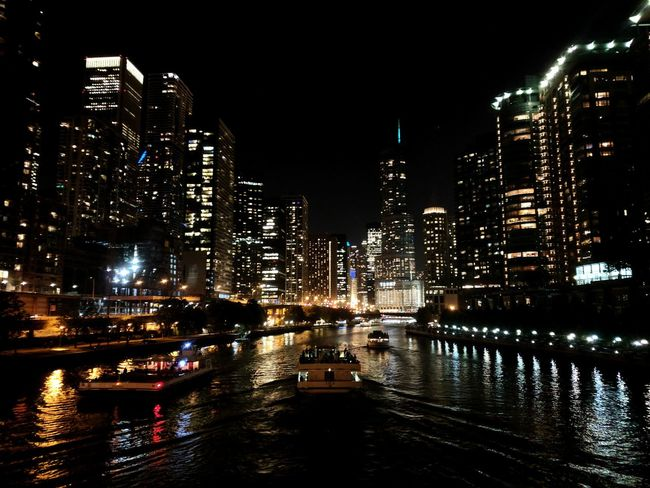 Trump Hotel Chicago Chicago At Night City Lights At Night Citylights EyeEmNewHere