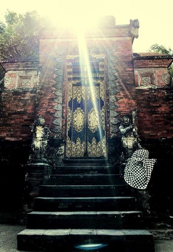 Blessing from above Steps Architecture Built Structure Steps And Staircases Outdoors Building Exterior Day Sunlight Low Angle View Sky Staircase EyeEmNewHere