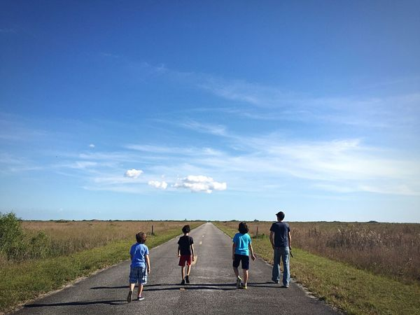 The Gang Sky Road Rear View Nature Walking Togetherness The Way Forward Scenics Outdoors Standbyme Everglades  Outwiththeboys EyeEmNewHere