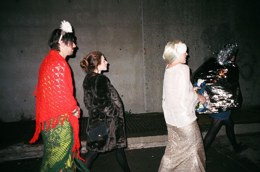 Happy Halloween Fridakahlo Mermaid Tinman Halloweennights in Brooklyn 35mm Film Analogue Photography Staybrokeshootfilm NYC