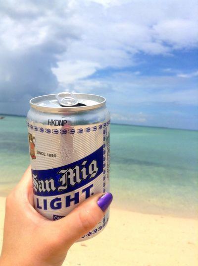 SanMigLight Thephilippines Sky Sea Beach Human Hand Text Horizon Over Water Nature Jomabo Island