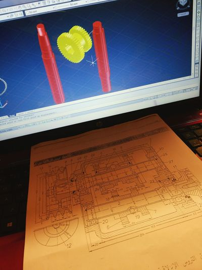 Studying Draw Autocad Mechanical Engineering BORED! Need To Sleep