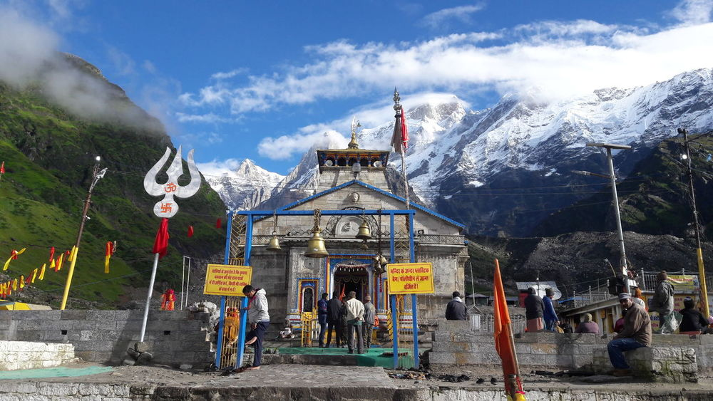 Hinduism Ancient Temple No Filter, No Edit, Just Photography Himalayas Kedarnath Sky Cloud - Sky Outdoors Travel Destinations People Mountain Architecture