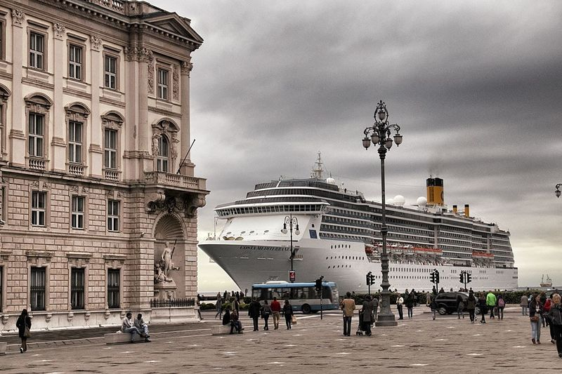 Architecture Buildings Cruise Ship Porto Porto Di Trieste Sea Trieste Trst