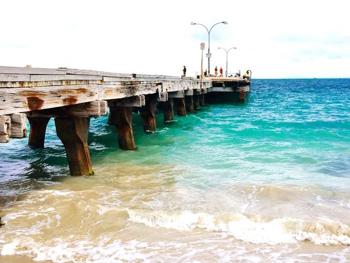 Jetty in the Turquoise Indian Ocean Jetty Jetty View Jetty Structure Long Jetty Ocean Jetty Jetty Australia Indian Ocean Ocean Wooden Jetty Turquoise Water