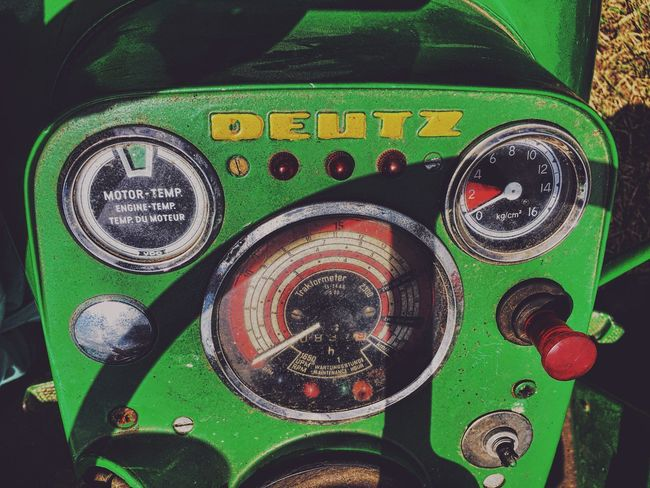 Technology Close-up No People Deutz Tractor Old