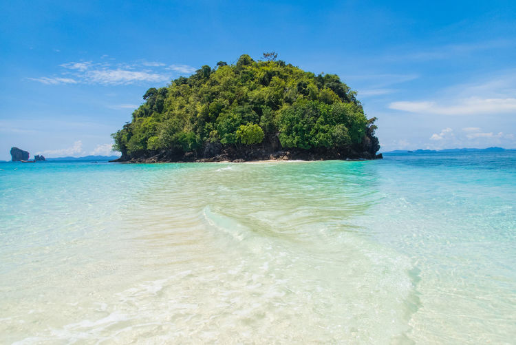 Water Sea Land Sky Beach Scenics - Nature Beauty In Nature Tree Tranquility Tranquil Scene Cloud - Sky Plant Nature Idyllic Day Sand No People Tropical Climate Holiday Outdoors Turquoise Colored Lagoon