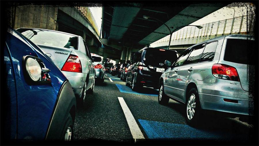 渋滞。 Afternoon Car 土曜日 渋滞