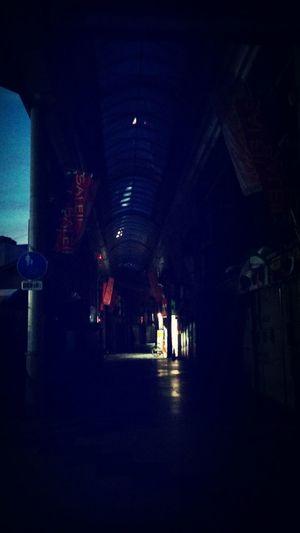 Sleeping shoutengai... Dark Street Japan Morning