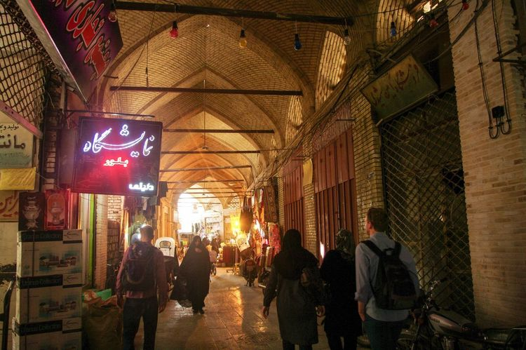 Market Adult Adults Only Architecture Building Exterior Built Structure City Illuminated Iran Men Night Outdoors People Shiraz, Iran Suq