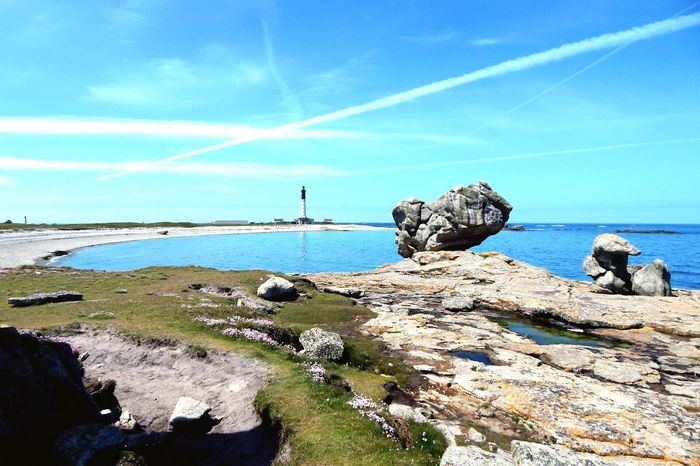 Evasion sur l'Ile de Sein! Phare Bretagnetourisme Beautiful Nature Ocean Walk Blue Water Coastline Colorful Landscapes With WhiteWall Sky Great Enjoying Life Bretagne France Island French Brittany The Great Outdoors - 2016 EyeEm Awards Skylovers Sun Rock Photography Photooftheday
