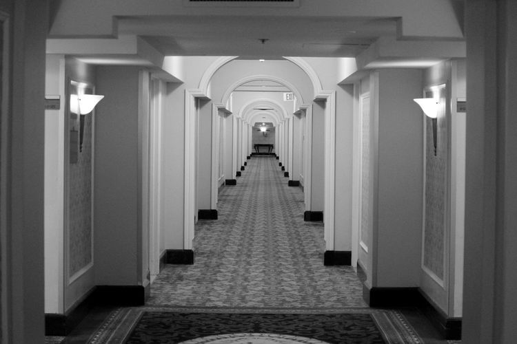 View of hallway in mansion
