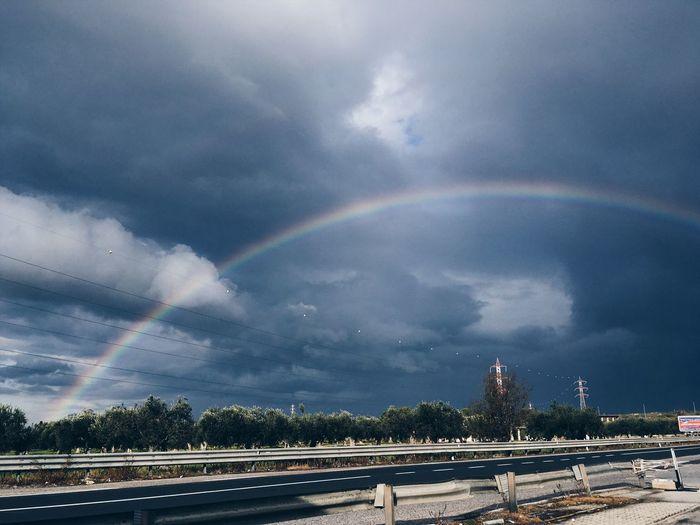VSCO EyeEmNewHere EyeEm Best Shots Rainbow Cloud - Sky Sky Beauty In Nature Architecture Nature Environment Scenics - Nature Double Rainbow No People Outdoors EyeEmNewHere