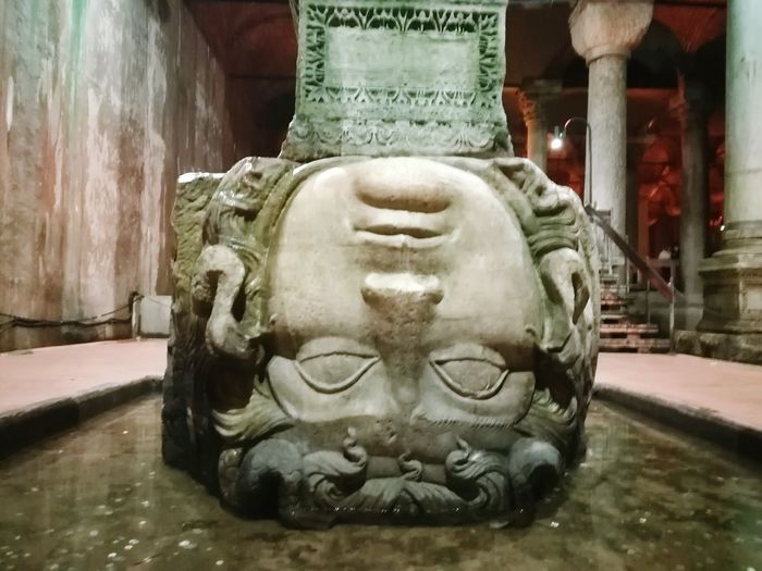 Art And Craft History No People Architecture Cultures Close-up Travel Destinations Istanbul Turkey Travel Byzantine Empire Basilica Sistern