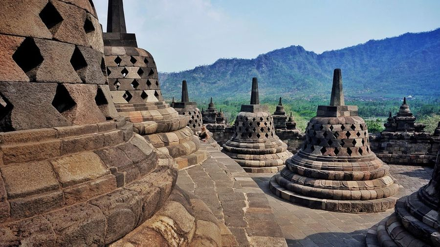 borobudur temple Religion Belief Spirituality The Past History Sky Architecture Tourism Travel Nature Building Outdoors Day Built Structure Place Of Worship Travel Destinations