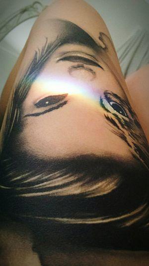 The girl behind the mask. Mask Girlbehindthemask Enjoythesummer Summer Beauty Peace Tattoo Girlswithtattoos Thightattoo Tattoos Inkedup Rainbow Rainbowlight Rayoflight