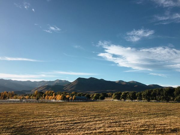 late afternoon sun in Heber Valley. Heber City Utah Countryside