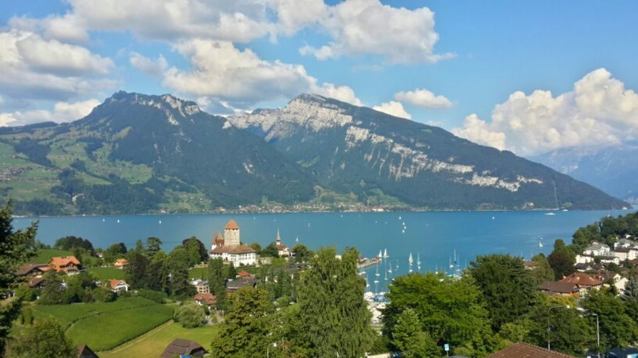 Spiez, Switzerland. Holiday Photography Peace And Love