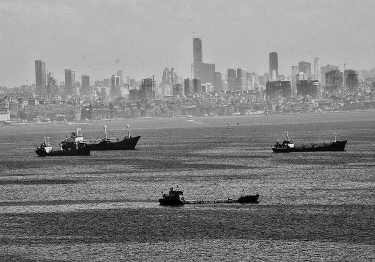 City Ships Marmarasea Nikonphotography Blackandwhite B&w
