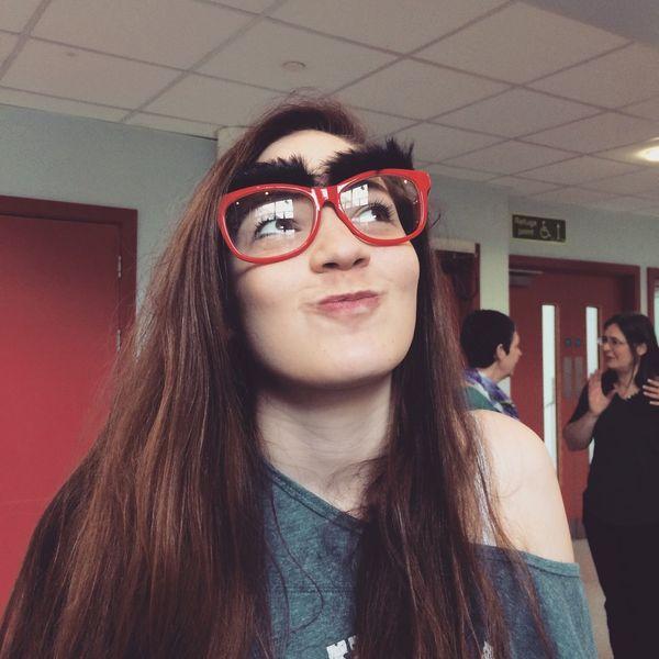 Church Check This Out Friend Glasses Weird Cheese! Bushy Eyebrows Cute Love Her Church Life