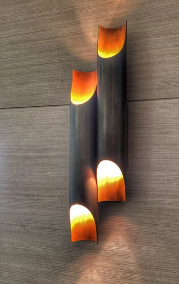 Architecture Wood Light Sconce Wooden Fire