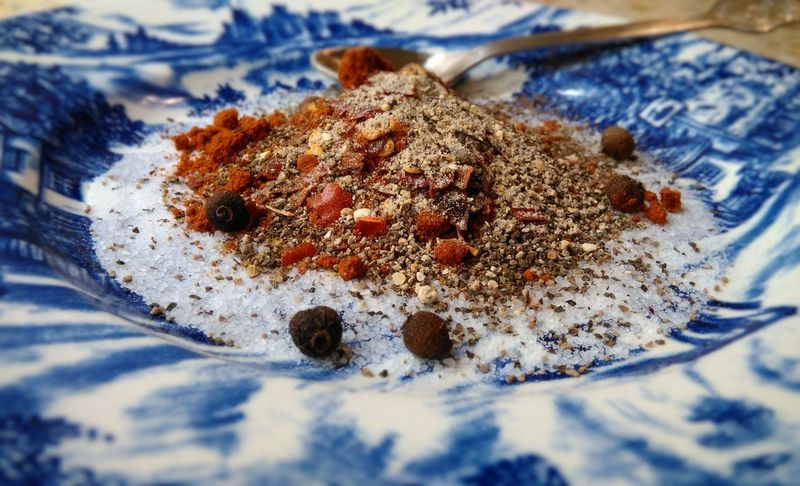 A Touch of Spice Focus Object Close-up Food Spice Spices Peper Salt Chilli Cuisine Gastronomy Gastronomía Plate Blue Focus épices Spezie Pepe  Poivre Sale Photography Redpepper Foodphotography Greek Food Greekcuisine Greece