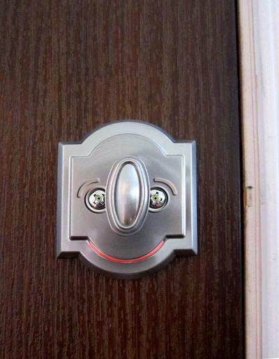 Knobby Photoshop Edit Indoors  No People Surrealism Cartoonish Door Lock Door Wood - Material Comes To Life For Fun