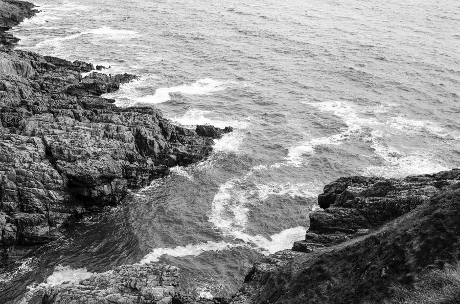 please feel free to see more at vsco.co/idimarco Beauty In Nature Blackandwhite Cliff Day Film Photography Flowing Langland Bay Motion Natural Landmark Nature Non-urban Scene Outdoors Power In Nature Remote Rock Formation Scenics Sea Solitude Tranquil Scene Wales Water Wave