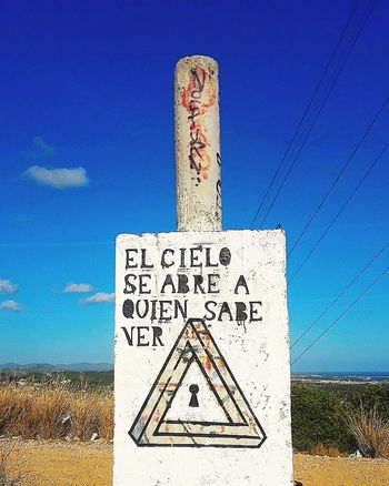 Text Communication Message Blue Sky Outdoors No People Road Sign Day Spagna Catalunyaexperience Spagna Spain Catalunya España Travel Destinations España🇪🇸 SPAIN Catalunia Spain🇪🇸 Sky And Clouds Cloud - Sky Nature Nature_collection Spagnaontheroad Catalunyalove