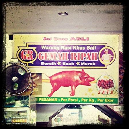 #eat #pork #bali
