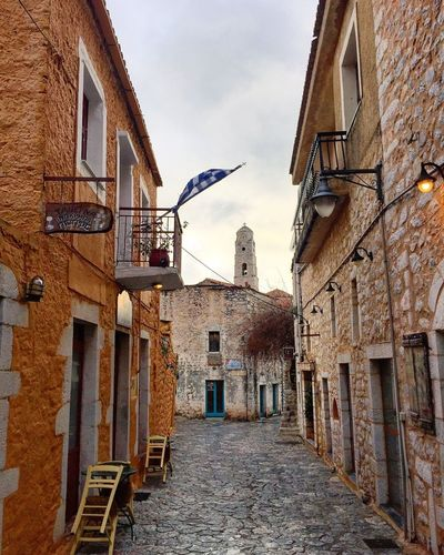 Areopolis Greece Areopolis Greece Areopolis Building Exterior Built Structure Architecture Building Sky Nature Residential District Old House Direction Outdoors Street The Way Forward The Past City