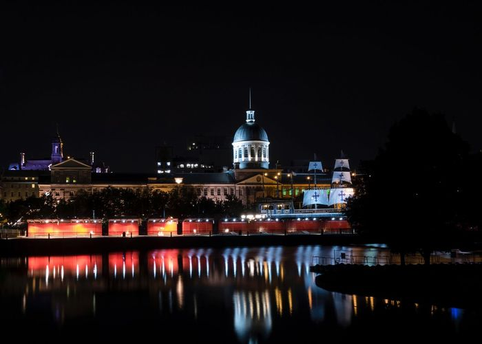 A quiet night in old Montreal EyeEmNewHere Building Exterior Night Illuminated Built Structure Architecture Water Reflection City Nightlife Building My Best Travel Photo My Best Travel Photo EyeEmNewHere EyeEmNewHere