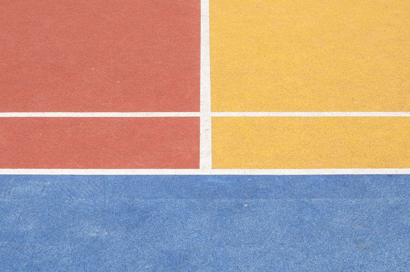 Backgrounds Blue Close-up High Angle View No People Orange Red Running Track Single Line Sport Sports Track Tennis Track And Field Yard Line - Sport Yellow Fresh on Market 2017 The Street Photographer - 2017 EyeEm Awards The Graphic City