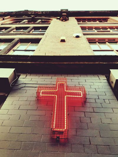 Jump Jesus cross Red No People Outdoors Day The perfect jump City Life Vacations Travel Destinations City Built Structure The Whiskey Jar Manchester One Person DESCA