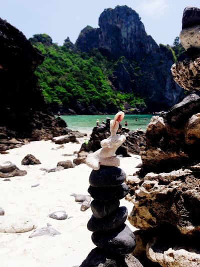 """Everithyng is about balance"" Thailand Koh Phi Phi Nuibay Mountain Water Rock - Object Cliff"