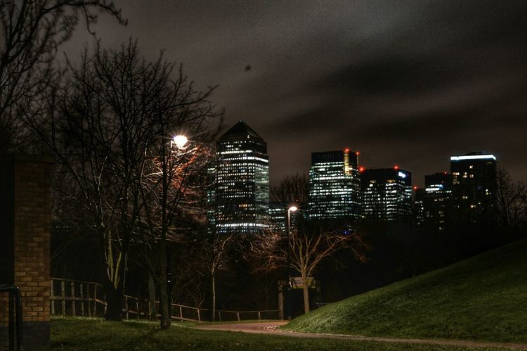 Canary Wharf Financial Cityscape Nightphotography Nightphotography Landscape Streetphotography SouthLondon Office Building Exterior Office Building Financial District  Tall - High Tower