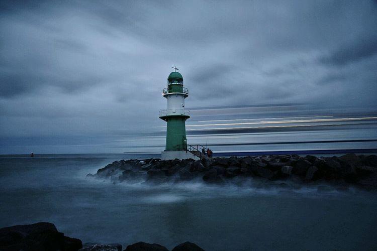 Old lighthouse at dusk